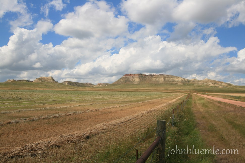 Bennie Pier, buttes, North Dakota geology