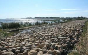 riprap, Devils Lake