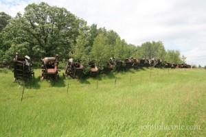 North Dakota, threshing machines