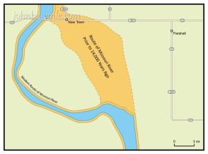 North Dakota, geology, ancestral Missouri River