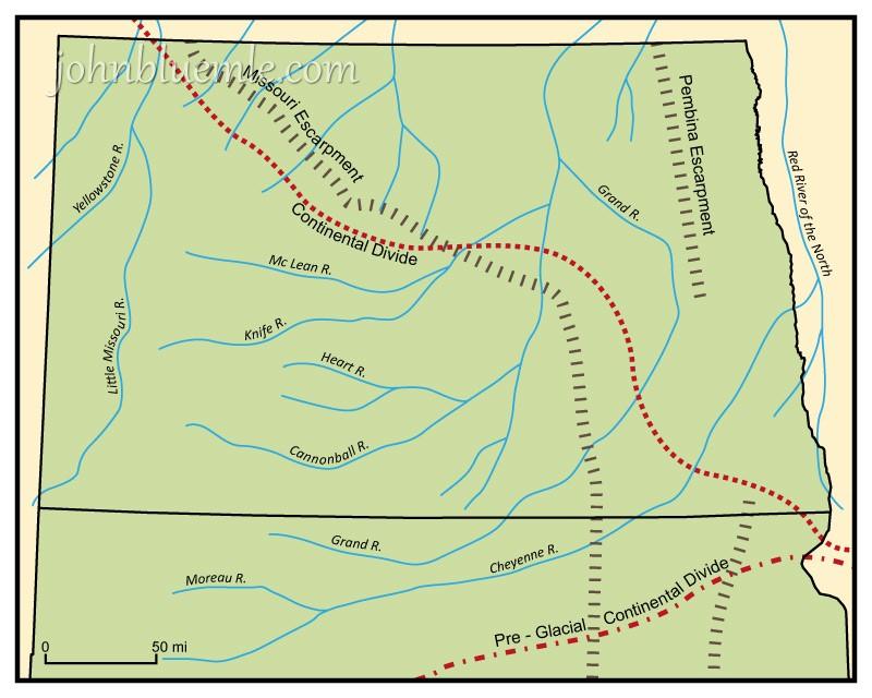 HOW THE MISSOURI RIVER FORMED North Dakota Geology - North dakota rivers map