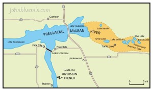 McLean River, geology, North Dakota