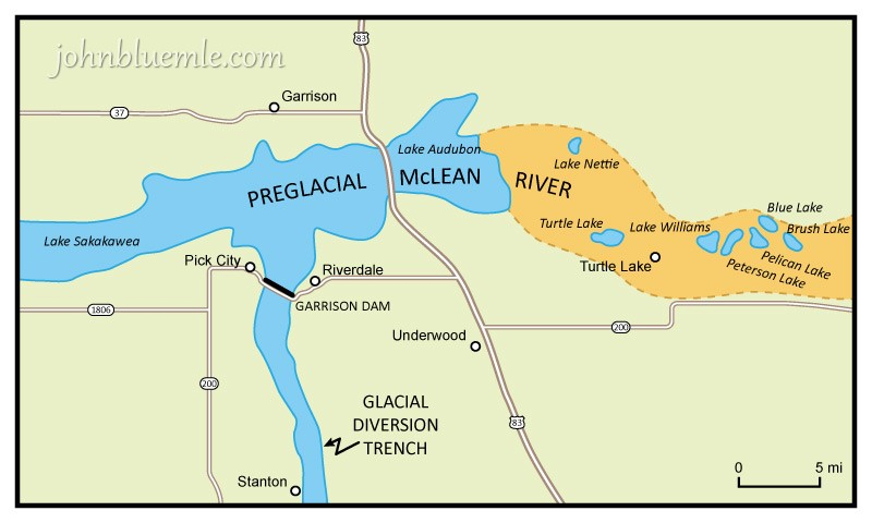HOW THE MISSOURI RIVER FORMED North Dakota Geology - North dakota rivers map