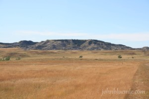Fig. 14-B. Tracy Mountain, 8 miles southwest of Fryburg in Billings County. The caprock is probably Sentinel Butte Formation.