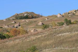 Arikaree boulders, geology, North Dakota, Killdeer