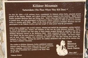 Battle of Killdeer Mountain, geology, North Dakota